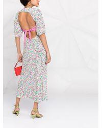 RIXO London - Платье Миди Steph С Принтом - Lyst