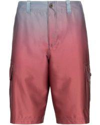 Sies Marjan Elias Ombré Cargo Shorts - Red