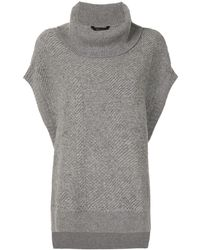 BCBGMAXAZRIA Roll Neck Sweater - Gray