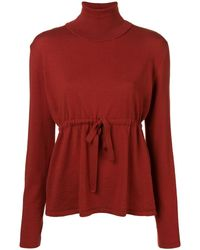 Societe Anonyme High Neck Knitted Top - Красный