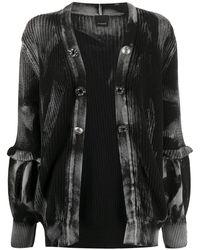 Pinko Vest Met Ruche - Zwart