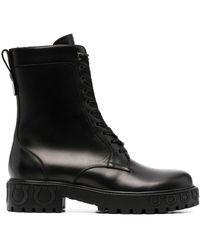 Ferragamo Ботинки На Шнуровке - Черный