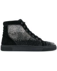 Louis Leeman Embellished hi-top sneakers - Noir