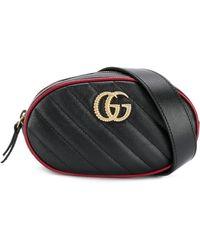 Gucci GG Marmont Matelassé Belt Bag - Black