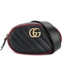 Gucci Riñonera GG Marmont - Negro