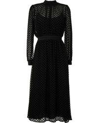 Tory Burch Платье Миди С Узором - Черный