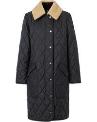 Burberry デタッチャブルカラー コート - ブラック
