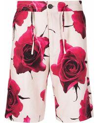 Paul Smith Шорты С Кулиской И Цветочным Принтом - Розовый