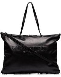 Saint Laurent ロゴ ハンドバッグ - ブラック