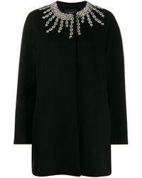 Giambattista Valli Oversized Crystal-embellished Coat - Black