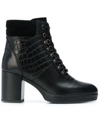 Geox - Croc Embossed Boots - Lyst