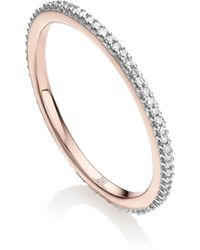 Monica Vinader Rp Skinny Eternity Diamond Ring - Металлик