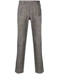 PT01 - Checked Tailored Trousers - Lyst