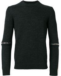 Les Hommes ジップディテール セーター - グレー