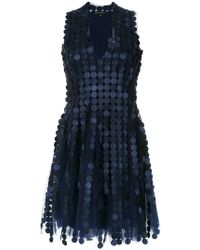 Gloria Coelho - Embroidered A-line Dress - Lyst