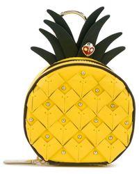 Kate Spade Picnic Pineapple コインケース - イエロー