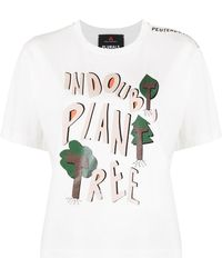Peuterey Graphic Print Crew-neck T-shirt - White