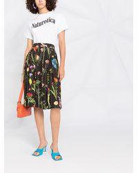 Boutique Moschino フローラル プリーツスカート - ブラック