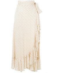 Ganni - Draped Polka Dot Skirt - Lyst