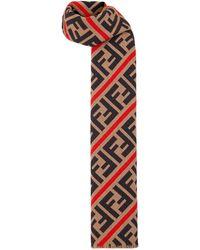 Fendi Cravate à motif FF - Multicolore