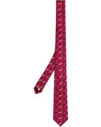 Burberry - Slim Cut Taxi Print Tie - Lyst