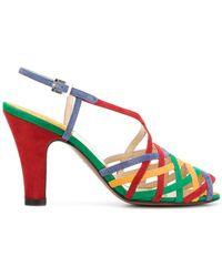 Ferragamo - Lattice-strap Sandals - Lyst