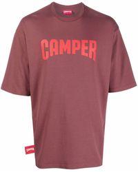Camper T-shirt à logo imprimé - Marron