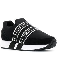 Trussardi Logo Strap Sneakers - Black