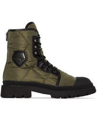 Ferragamo Ботинки В Стиле Милитари - Зеленый