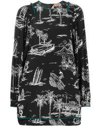 N°21 - Island プリント ドレス - Lyst
