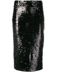 MICHAEL Michael Kors スパンコール ペンシルスカート - ブラック