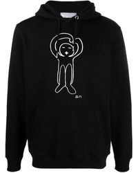Societe Anonyme Graphic Print Hoodie - Black