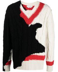Alexander McQueen パターンニット セーター - ホワイト