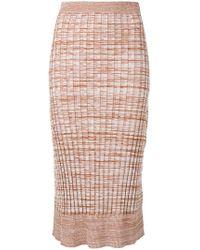 Jil Sander Navy - Knitted Midi Skirt - Lyst