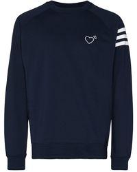 adidas X Human Made Heart-embroidered Sweatshirt - Blue