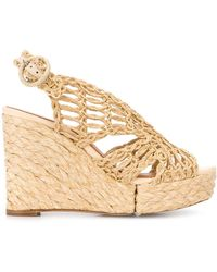 Paloma Barceló Woven Style Wedge Heel Sandals - Естественный