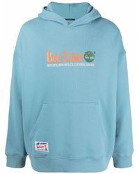 Timberland Embroidered Logo Hoodie - Blue