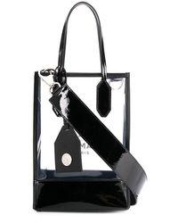 Balmain Petit sac cabas à logo imprimé - Blanc