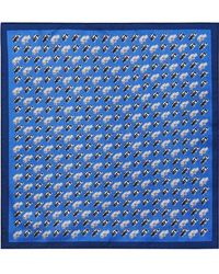 Burberry - Taxi Print Silk Pocket Square - Lyst