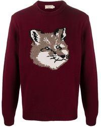 Maison Kitsuné Джемпер С Вышитым Логотипом Fox - Красный