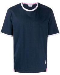 Thom Browne - コントラストトリム Tシャツ - Lyst