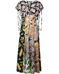3.1 Phillip Lim Long Patchwork-print Dress - Зеленый