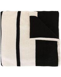 James Perse Striped Knit Scarf - Black