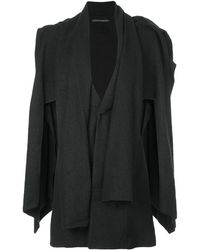 Yohji Yamamoto レイヤードジャケット - ブラック