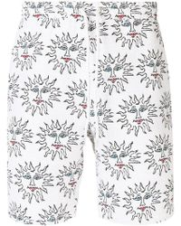 Soulland - Alexander Embroidered Relaxed Shorts - Lyst