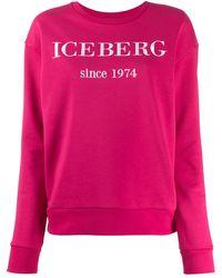 Iceberg ロゴ スウェットシャツ - ピンク