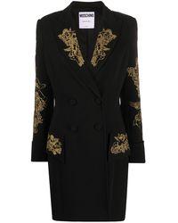 Moschino エンブロイダリー ドレス - ブラック