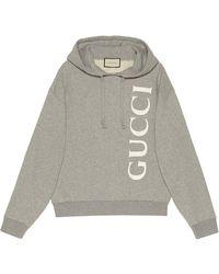 Gucci Худи С Логотипом - Серый