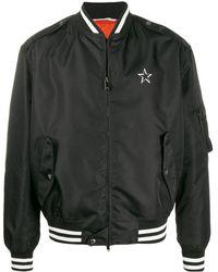 Valentino Bomberjack Met Vltn Star Logo - Zwart