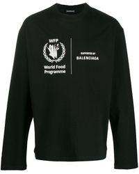 Balenciaga Футболка World Food Programme С Длинными Рукавами - Черный